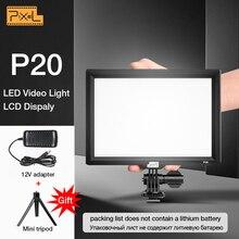Pixel P20 камера свет Фотостудия Свет фотография Освещение Led Видео свет для Canon Nikon камера Facebook YouTube шоу в реальном времени