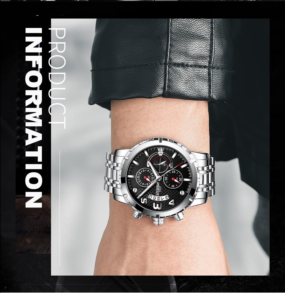 SportArmy Watch For Men Watches 2018 Waterproof Watch Men\`s Wrist Quartz Analog Watch Stainless Steel (14)