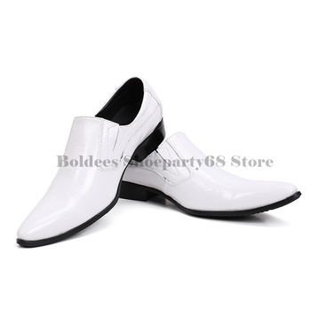 Runway Fashion Top Quality 2019 Leather Casual Men Shoes Fashion Men Flats Pointed Toe Comfortable Office Men Dress Shoes