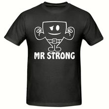 Mr Strong T-Shirt, Funny Novelty Mens SM-2XL,Fathers Day. Weights top New T Shirts Tops Tee Unisex