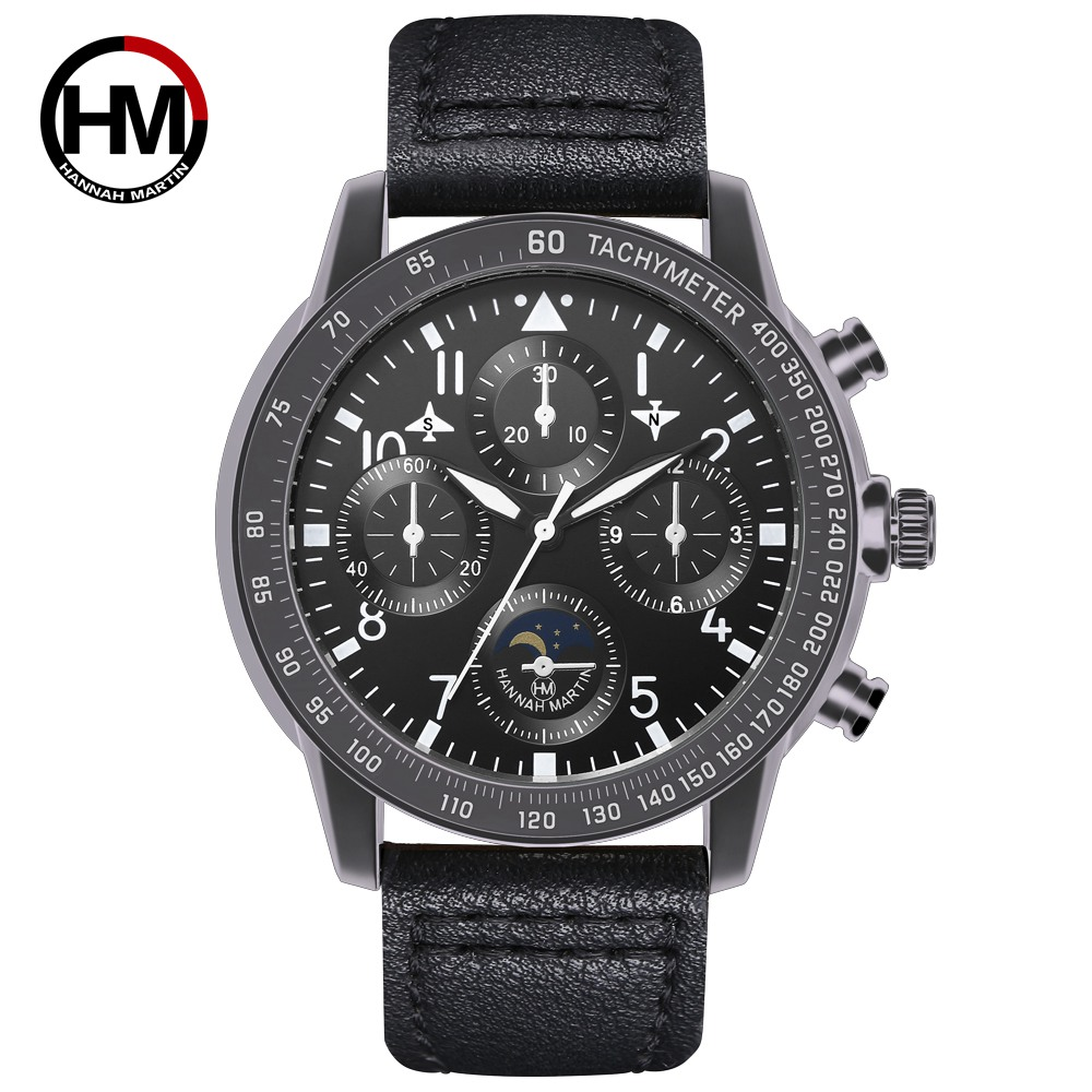 New Men's Watches Top Brand Luxury Waterproof Men Military Sport Casual Brown Leather Wrist Watch Relogio Masculino Dropshipping