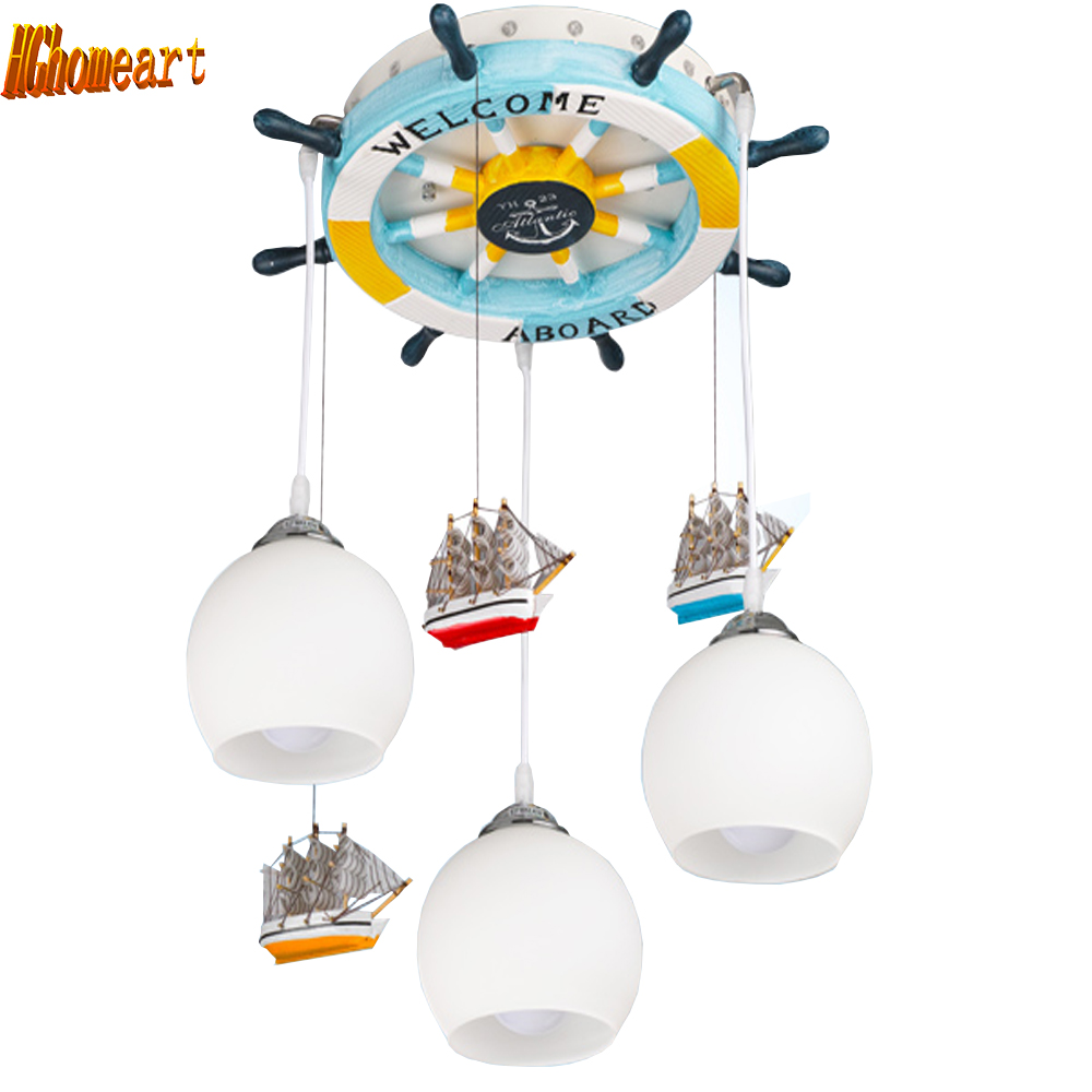 HGhomeart New creative child's bedroom led pendant lamp boys and girls pendant lights cartoon children room warm home lighting
