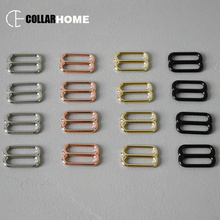 10pcs Plated metal adjuster sliders adjustable buckle 25mm 1 inch DIY cat dog collar straps sewing accessory durable hardware