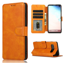 PU leather cell phone fundas for Samsung galaxy S10 S10E Plus A50 A70 A40 M30 M20 A6 PLUS J6 S9 S8 J8 2018