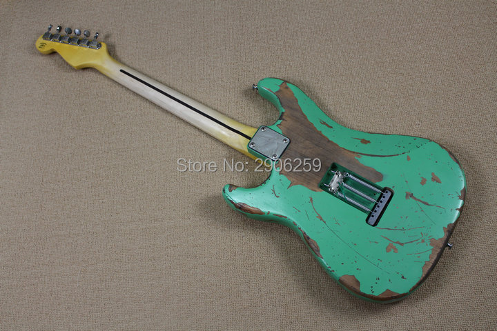 Custom Shop 100 handmade aged st guitar high quality surf green st relic guitar free shipping limited issue in Guitar from Sports Entertainment