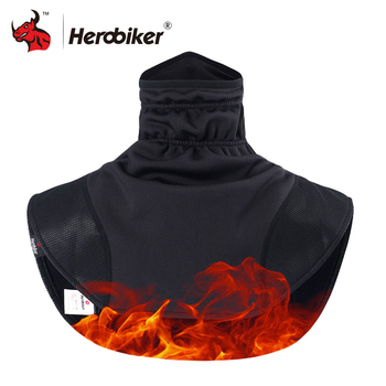 HEROBIKER мотоциклетные термоподшлемники шарф мотоциклетный шлем флис шеи  Кепки лицо щит Ветрозащитная Балаклава теплые мото маска e9b6b8d3662