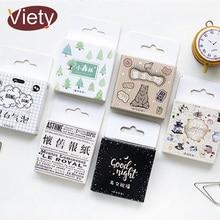 45 pcs/box Vintage animal tree mini paper sticker decoration DIY diary scrapbooking seal sticker kawaii stationery