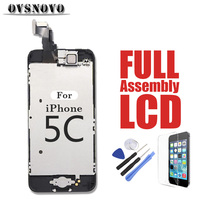 Full Assembly for iPhone 5c LCD Display Digitizer Touch Screen Replacement Parts Panel Front Camera + Home Button + Glass + Tool