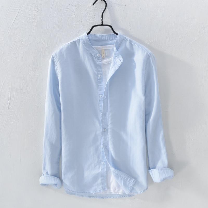 Italia Marca Suehaiwe's Moda Camisa de manga larga Hombre Lino - Ropa de hombre - foto 1