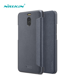 5.5'' NILLKIN for meizu m6 note case cover Sparkle PU leather for meizu note 6 case cover flip cover smart wake up function thin