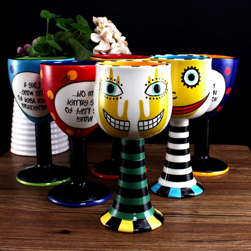 High end hand painted champagne glass creative personality for High end coffee mugs