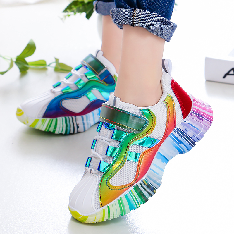Image 5 - ULKNN Girls sports shoes 2019 spring new children's pink shoes baby mesh autumn breathable mesh red enfants shoe size 27 37-in Sneakers from Mother & Kids