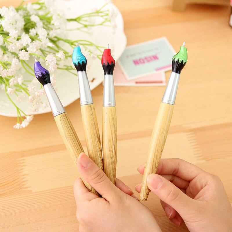 1 Pc Creative Student Brush Ballpoint Pen  Blue Refill 1 Mm Ballpen School Supplies Office Supplies Home Decoration