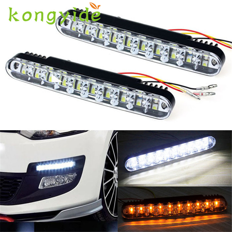 2017 NEW 2x 30 LED Car-styling Daytime Running Light DRL Daylight Lamp with Turn Lights fashion hot drop shipping oct17 2017 2pcs 30cm led white car flexible drl daytime running strip light soft tube lamp luz ligero new hot drop shipping oct10