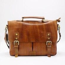 Марка Go-удача 13 «ноутбук Портфели из натуральной кожи сумка Для мужчин сумки Повседневное и Бизнес сумки