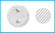 Marine Boat 8 inches/203mm White Screw Out Inspection Deck Plate Hatch Marine Yacht Detachable Cover RV Plastic DECKW8