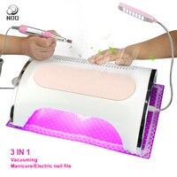 NOQ Профессиональная УФ светодиодный пылесос лампы для ногтей 54 Вт Сушилка для ногтей Nail пылесборник с ногти дрель полировщик салон машины