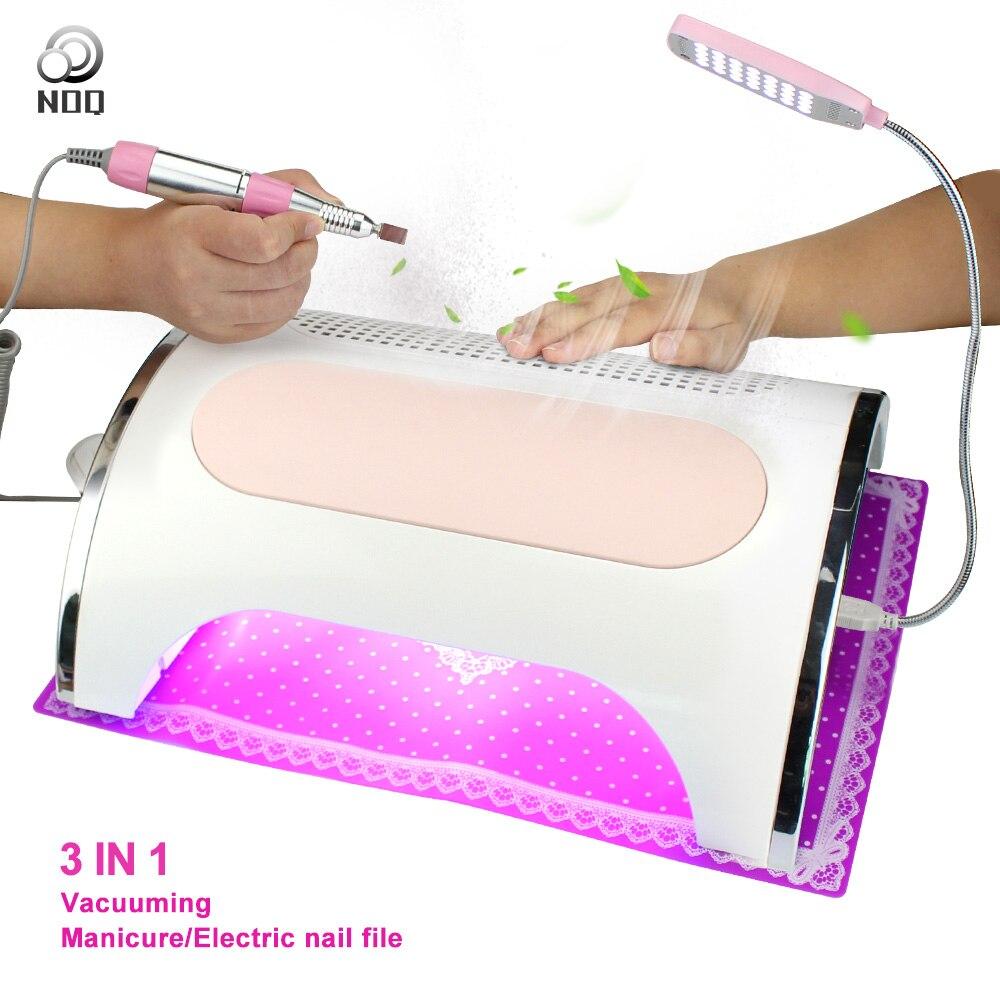 NOQ Professional UV светодио дный LED пылесос лампа для ногтей 54 Вт Сушилка для ногтей пылесборник с Стразы для ногтей полировщик салон машина