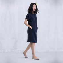 XianRan 2016 Women Dress Summer Loose Dresses Short Sleeves Cotton Plus Size Dresses Free Shipping