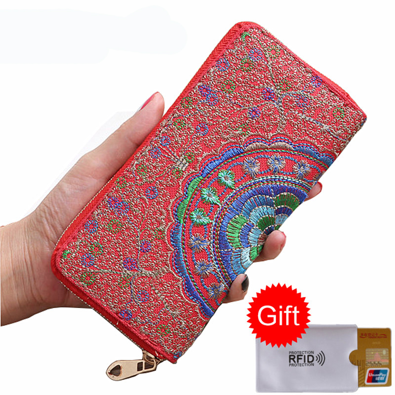 BYCOBECY Vintage Women Bag Long Wallet Handbag High Capacity Fashion Female Card Holder Ladies Girls Handbags Crafts