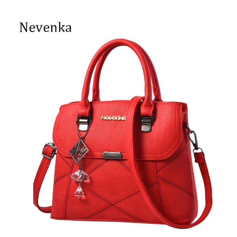 Nevenka Women Crossbody Bag Female Shoulder Ladies Solid Color Tote Messenger Ba