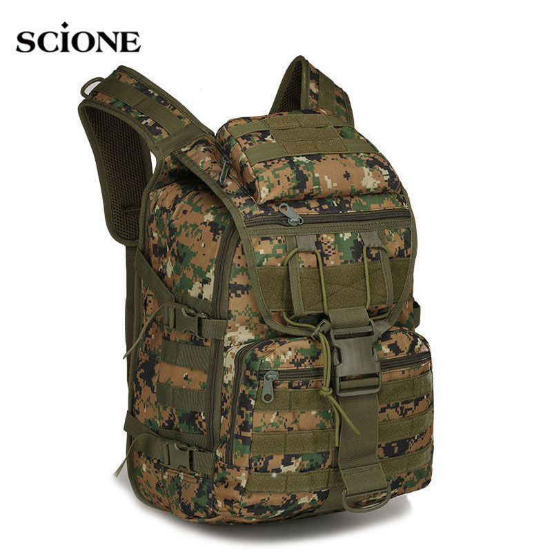40L Men Women Military Army Backpack Trekking Camouflage Rucksack Molle Tactical Bag Pack Schoolbag Waterproof ACU Black XA169WA new stylish outdoors military tactics bag acu cp camouflage army black men bag camp mountaineer travel duffel messenger bag