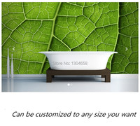 Free Shipping Custom Large Mural Detailed Leaf Wall Mural Sofa Bedroom TV Backdrop Wallpaper Kitchen Bathroom