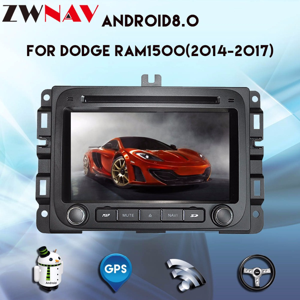 7 Android 8.0 car DVD Radio for Dodge RAM1500 ram 1500 2014 2015 2016 2017 Octa core with Bluetooth 3D GPS free map autostereo