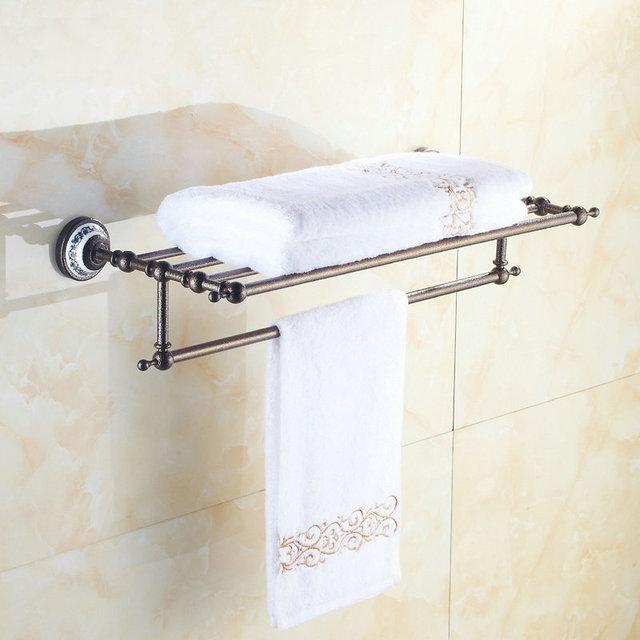 Roman Bronze Porcelain Towel Rack Bathroom Accessories Holder Shelf Wall Mounted 05tr