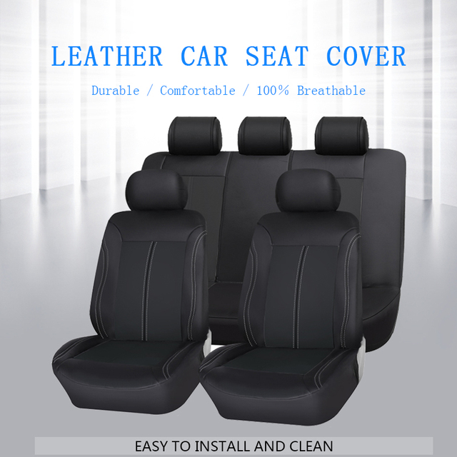 Luxury PU Leather Car Seat Covers Universal Car Seat Protector 100% Breathable Automobiles Seat Cover Auto Interior Accessories