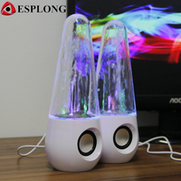 Dancing Water Speaker Active LED Light Music Fountain Portable Speakers AUX In Subwoofer Micro USB For