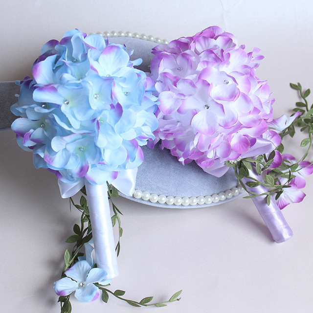 2017The última moda das flores e a noiva buquê de pérolas XF03