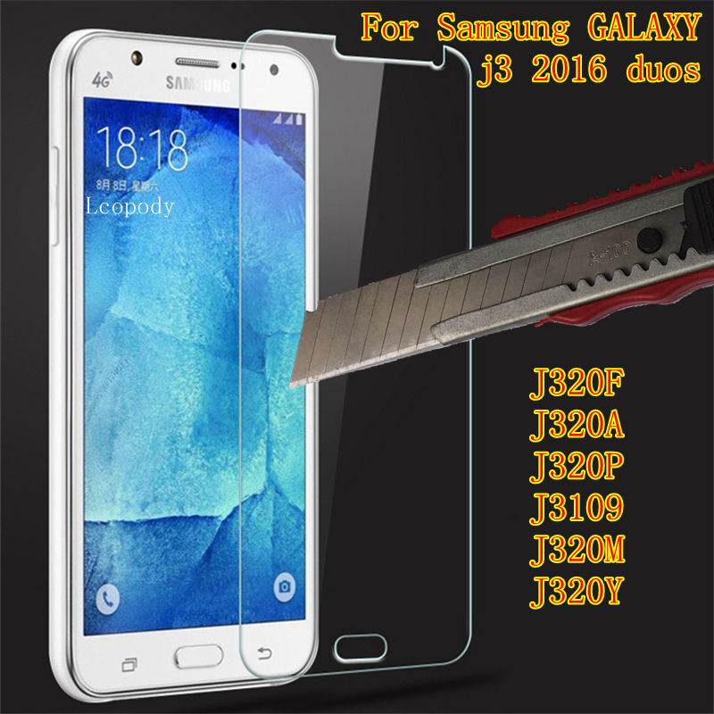 Tempered Glass For Samsung GALAXY j3 2016 duos Screen Protector