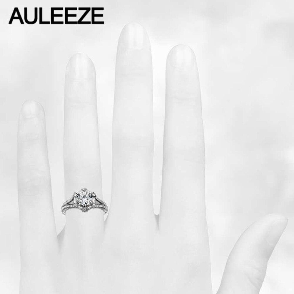 1 Carat Moissanites Cincin Hexagon Baguette Nyata Berlian Perhiasan - Perhiasan bagus - Foto 5