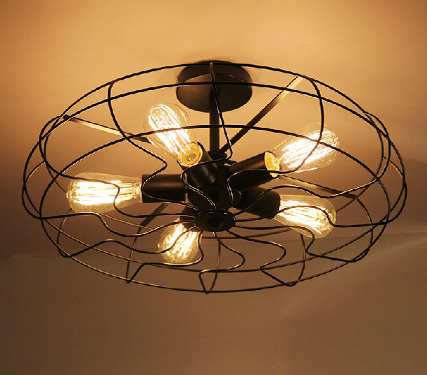 loft western style rustic restaurant industry and creative personality ceiling fans lights balcony study