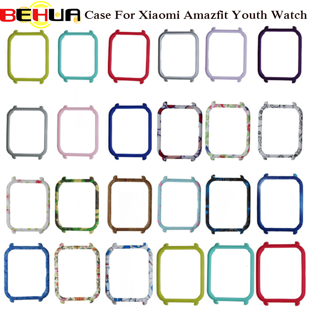 Slim Colorful Frame PC Case Cover for Xiaomi Amazfit Bip BIT PACE Lite Youth Watch Protect Shell for Xiaomi Huami Amazfit Watch mijobs 20mm silicone wrist strap protective case cover plastic pc shell for huami xiaomi amazfit bip bit pace lite smart watch