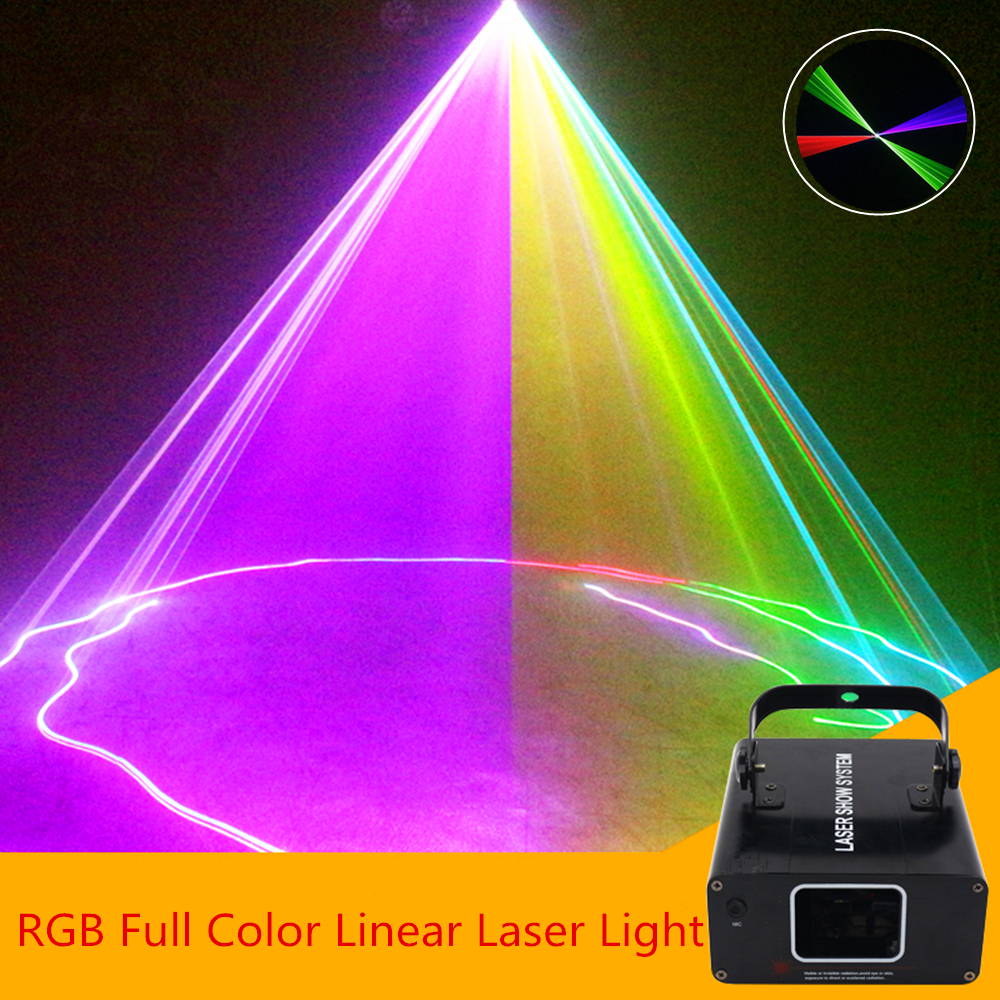 RGB Mini Scan Laser Projector Light/ DJ Disco Party Music Sound Control Laser/ Linear Beam Effect Stage Lighting/Scanner Light