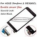 1 ШТ. Черный Датчик Для ASUS Zenfone 2 ZE500CL Сенсорным Экраном Дигитайзер Экран (не жк-дисплей) + ЛОГОТИП Бесплатно Слежения