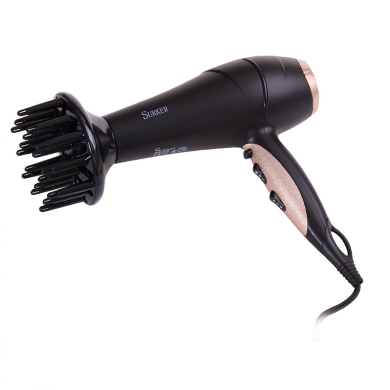 2200W Professional Hair Dryer Blow Portable High Power Anion Electric Hair Dryer Thermostatic Air Travel Hairdressing Hot&Cool dryer pet dog professional hair dryer ultra quiet high power stepless regulation of the speed drying machine 2400 w