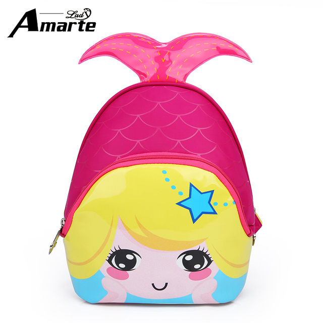 Amarte Kids Bags 2017 New Fashion Cute Waterproof Children Backpacks