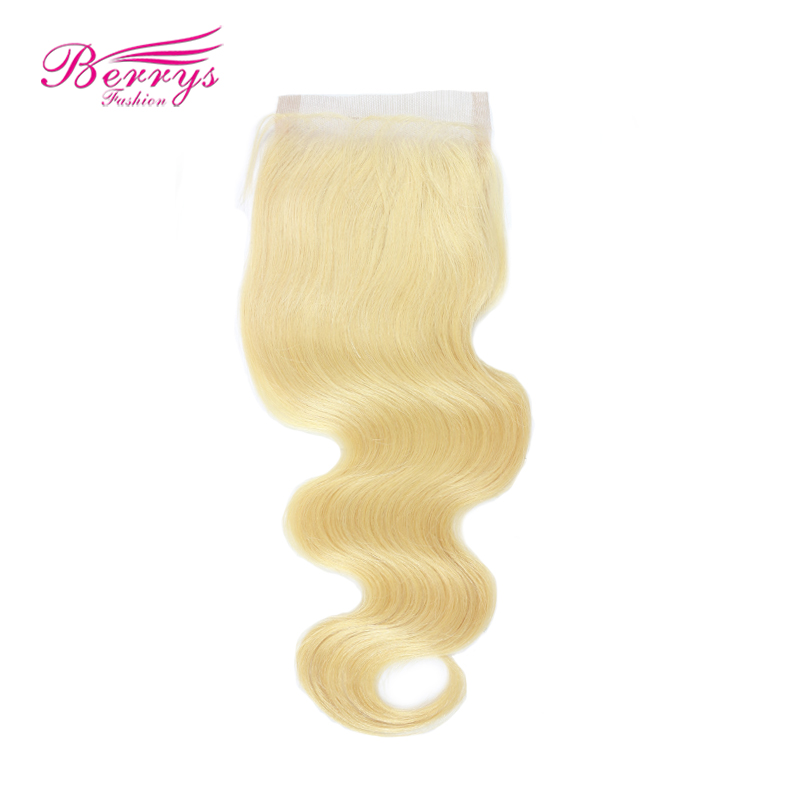 Blonde Body-Wave Berrys Fashion Hair-Extensions Bundles Lace Closure Human-Hair Free-Part