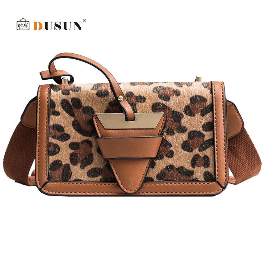 25c805a34db US $15.99 48% OFF|Bolsos Mujer Women Bags Plush Leopard Print Shoulder Bag  High Quality Ladies Casual Messenger Crossbody Flap Bags for Women 2019-in  ...