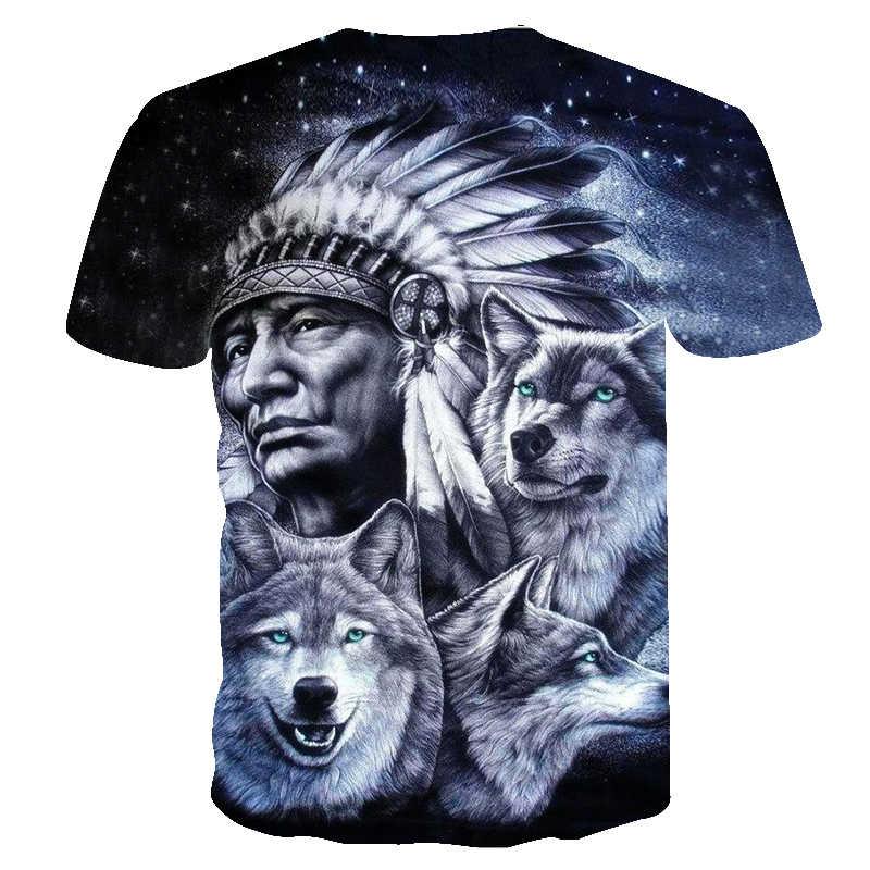 2018 Новая мужская футболка Летняя супер крутая пара Волк 3D печатные мужские футболки Реалистичная модная индивидуальность мужские Забавные футболки