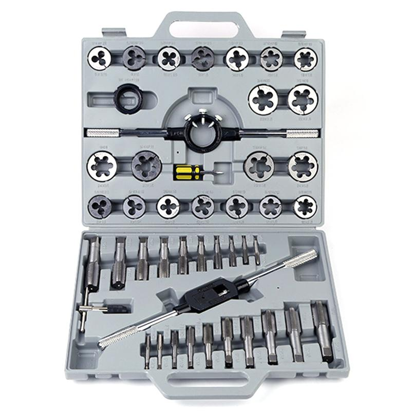 WINOMO 45 in 1 Tap and Die Set Wrench Kit Metric Repair Tool for Tapping Cutting ThreadingWINOMO 45 in 1 Tap and Die Set Wrench Kit Metric Repair Tool for Tapping Cutting Threading