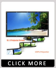 ALLOYSEED Portable 60/72/84/100/120 inch 3D HD Wall Mounted Projection Screen Canvas 16:9 LED Projector Screen For Home Theater 4