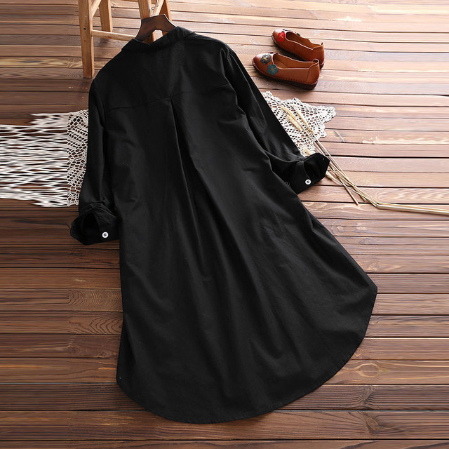 Plus Size 5XL Womens Tops and Long Sleeve Blouses 2018 Streetwear Button V Neck Long Shirts Tunic Ladies Top Womens Clothing 2