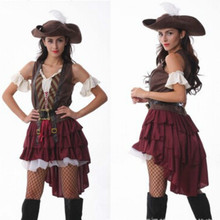 Sexy Women Pirate Costume Woman Plus Size Female Halloween Fancy Party Dress Carnival Adult Pirate Jack Sparrow Cosplay Costumes halloween costume caribbean pirate jack sparrow wig w beards black brown