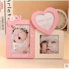 Baby photo frame Cute cartoon creative wall Kids childrens Wedding Photo Frame Set 6 Inch 4