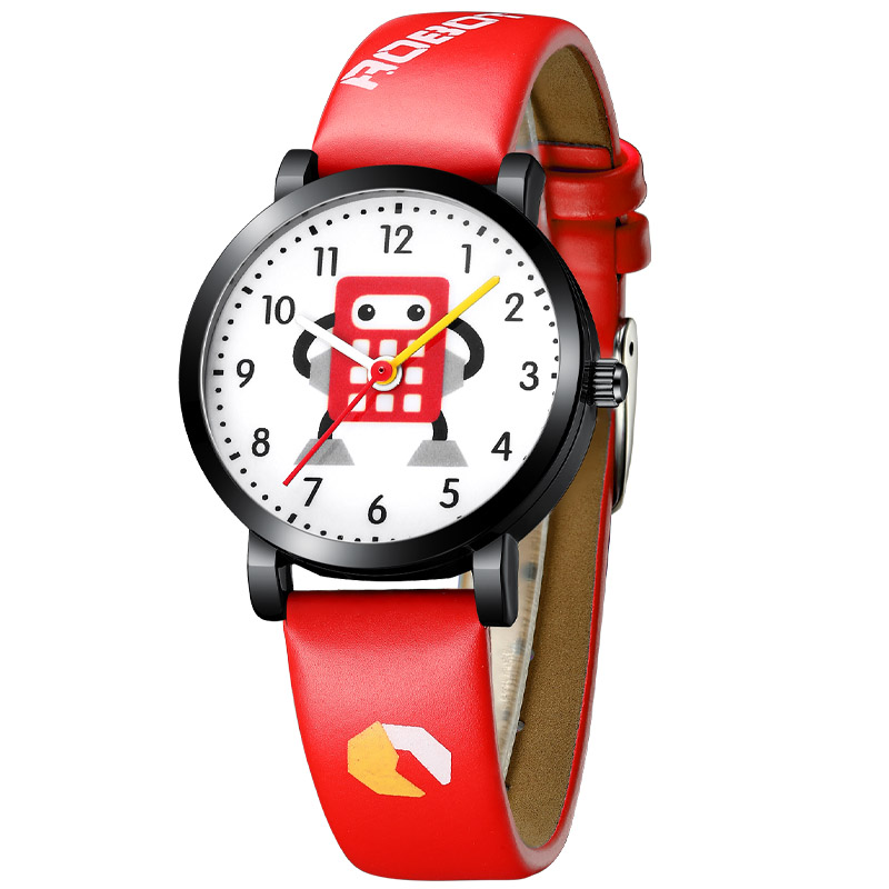 KDM Lovely Boy Watches Child Clock Watch Waterproof Genuine Leather Children Cartoon Robot Cute Student Wristwatch Clocks