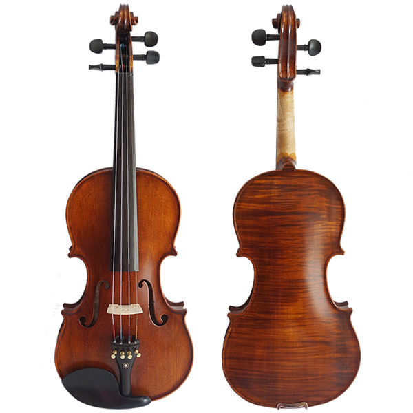 HANDMADE VARNISHED RED BROWN NICE FLAME MAPLE CARVED PROFESSIONAL VIOLIN WITH EBONY PARTS MODEL HV900